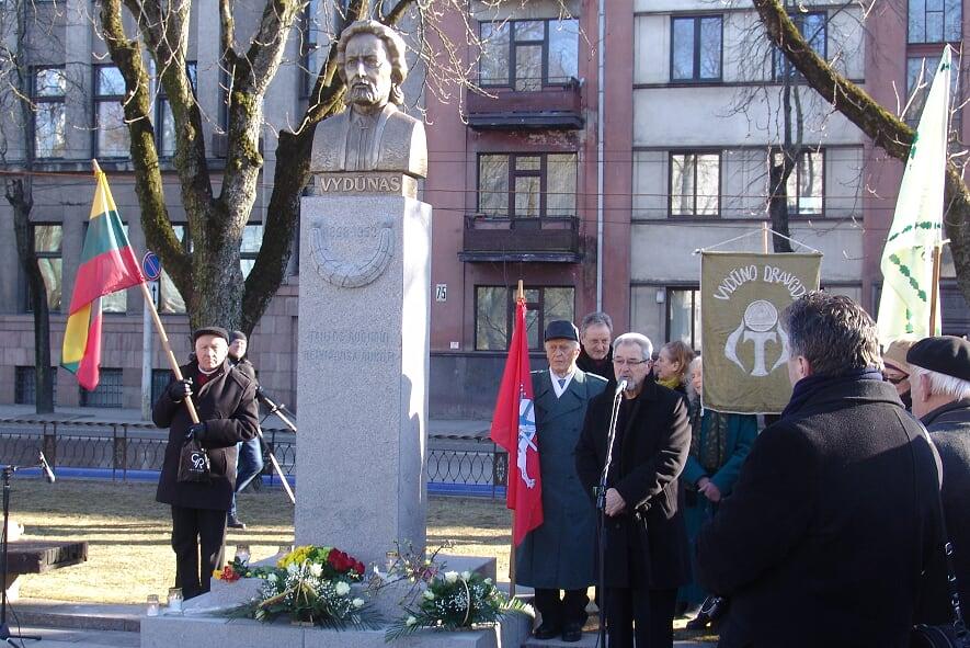 2018.03.21 Kaunas, paminklo atidengimas | Lietuvos mokslų akademijos nuotr.