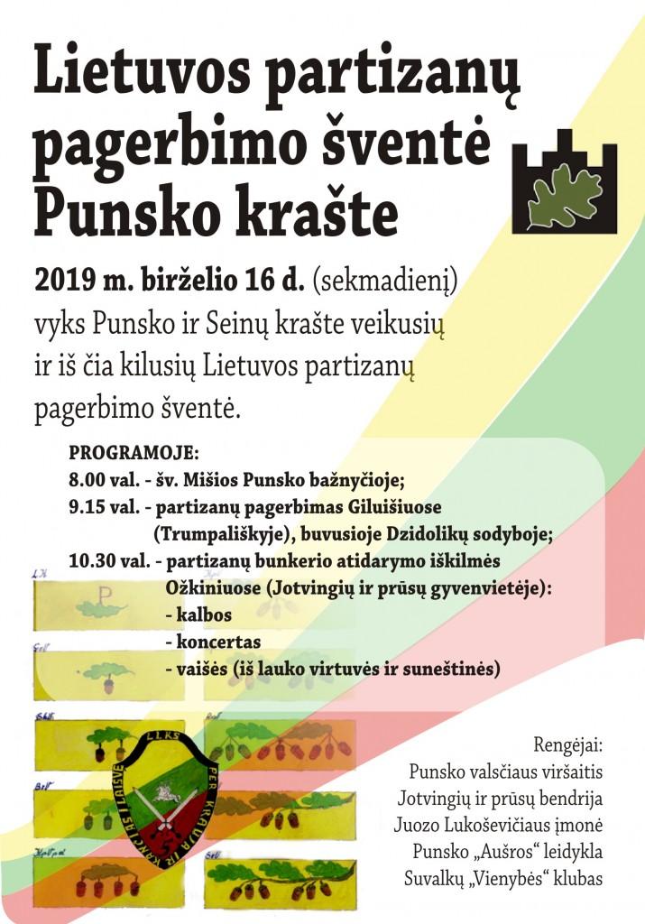 2019 06 16 Partizanų pagerbimo