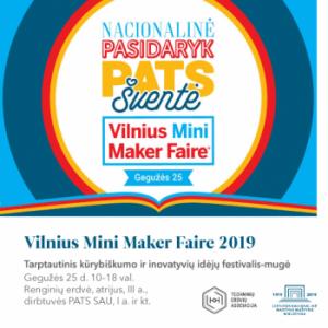 """Renginys """"Vilnius Mini Maker Faire 2019""""   Lietuvos nacionalinės Martyno Mažvydo bibliotekos nuotr."""