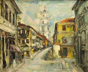 K. Žoromskio paveikslas - Dominikonų gatvės Vilniuje | Meno rinkos agentūros nuotr.