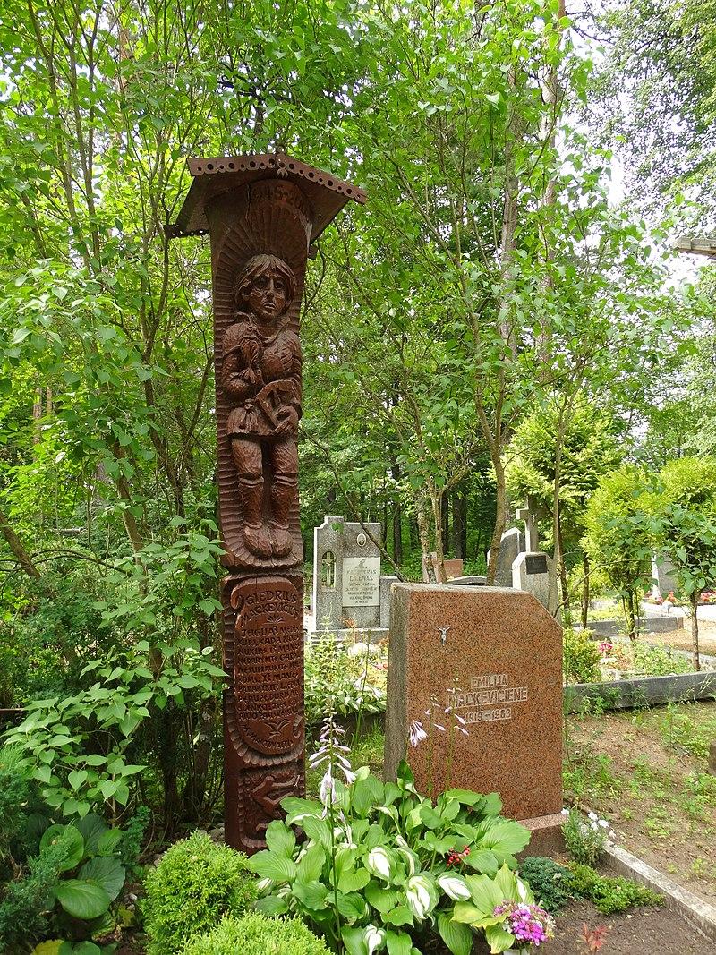 Giedriaus Mackevičiaus antkapinis paminklas Grybėnų kapinėse | rengėjų nuotr.
