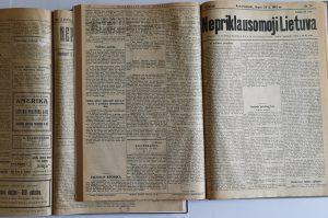 Laikraščiui Nepriklausomoji Lietuva – 100 metų | LMA Vrublevskių bibliotekos nuotr.