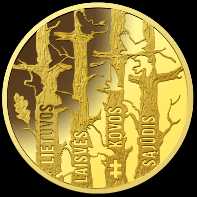 Aukso moneta įamžina Lietuvos laisvės kovas | Lietuvos banko nuotr.