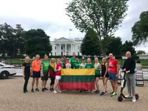 Bėgimo dalyviai Vašingtone | urm.lt nuotr.