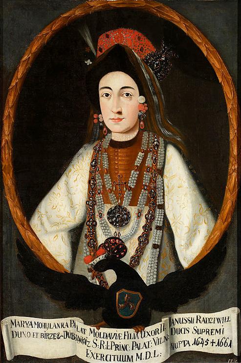 Jonušo Radvilos antroji žmona Marija Lupul 1733-37m. | wikipedija.org nuotr.