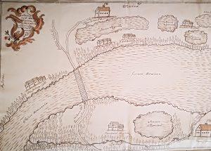 Nemenčinės klebonijos žemių prie Simoniškių palivarko planas. 1767