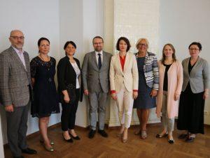 Pasaulio lietuvių bendruomenės atstovai Kultūros ministerijoje | lrkm.lt nuotr.