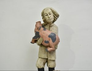 Tautodailininko Adolfo Teresiaus skulptūra | E. Čingos nuotr.