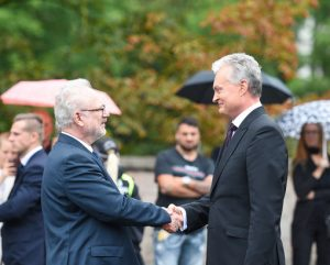 Lietuvos Respublikos Prezidentas Gitanas Nausėda susitiko su Latvijos valstybės vadovu Egilu Levitu | prezidentas.lt nuotr.