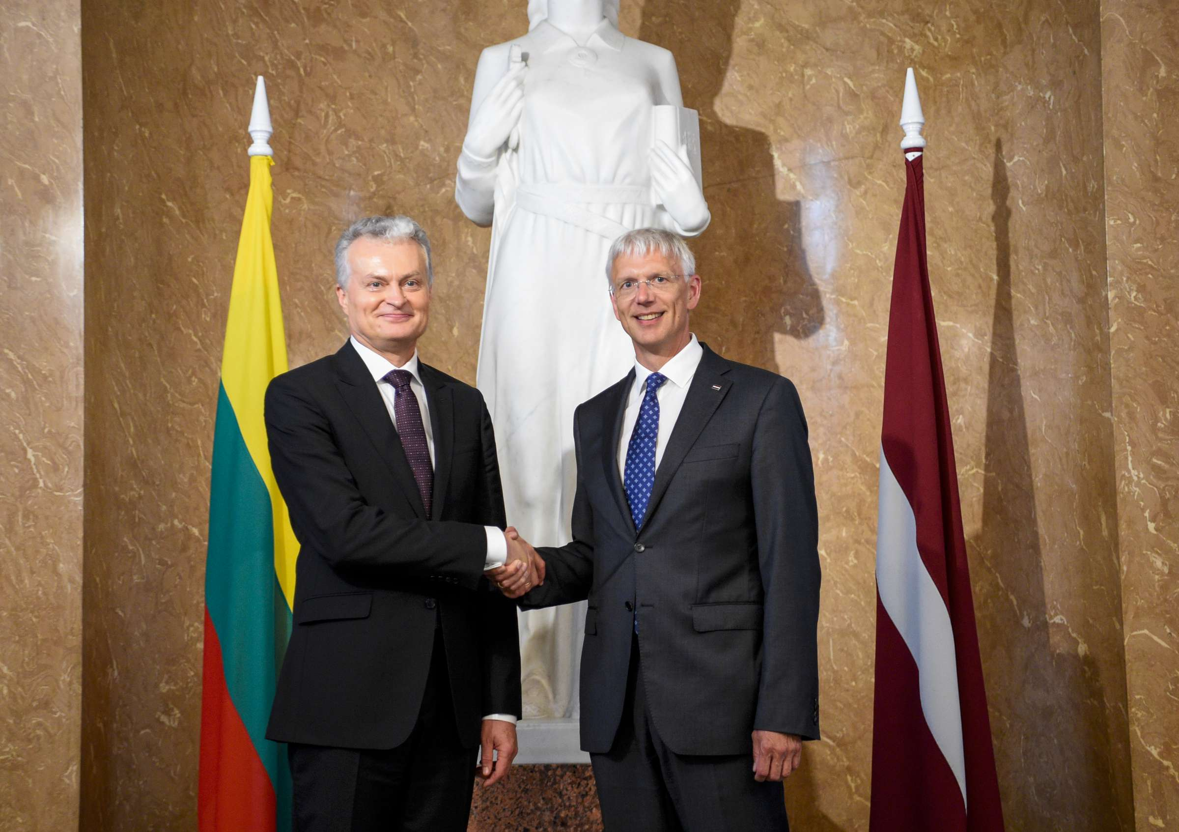 Lietuvos Respublikos Prezidentas susitinka su Latvijos Respublikos Ministru Pirmininku Krišjaniu Kariniu | lrp.lt, R. Dačkaus nuotr.