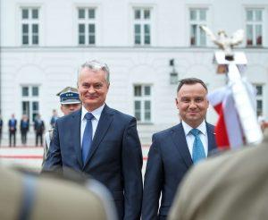Lietuvos prezidentas Gitanas Nausėda ir Lenkijos prezidentas Andžejus Duda | lrp.lt, R. Dačkaus nuotr.