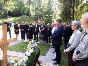Antakalnio kapinėse amžinojo poilsio atgulė istorikas Algimantas Liekis | S. Gorodeckio nuotr.