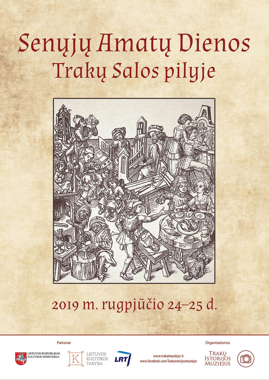 2019 Amatų šventės plakatas | Trakų istorijos muziejaus nuotr.