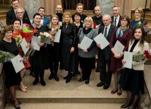 2018 metais Kultūros ministerijos įteiktos premijos | lrkm.lrv.lt nuotr.