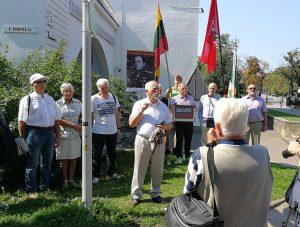 Pulkininko Kazio Škirpos 40-ųjų mirties metinių minėjimas jo vardu pavadintoje Vilniaus alėjoje   V. Valiušaičio nuotr.