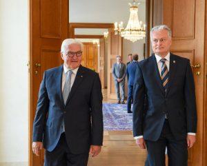 Lietuvos ir Vokietijos Prezidentai aptarė gynybos ir ekonominio bendradarbiavimo klausimus | lrp.lt nuotr.