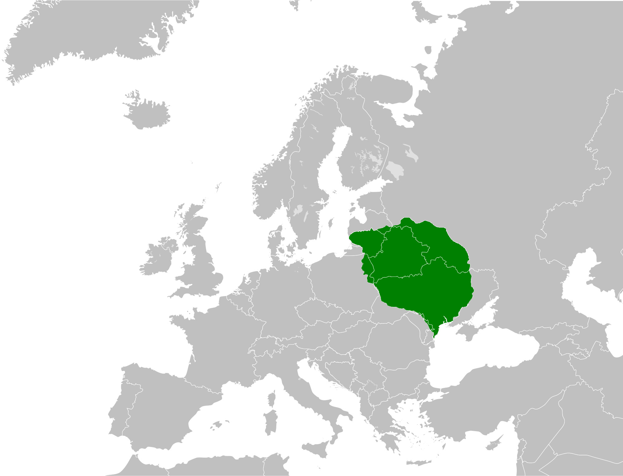 Lietuva XV a. pabaigoje | wikipedia.org nuotr.