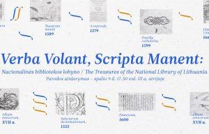"""Paroda """"Verba volant, scripta manent"""": iš Nacionalinės bibliotekos lobyno""""   Rengėjų nuotr."""