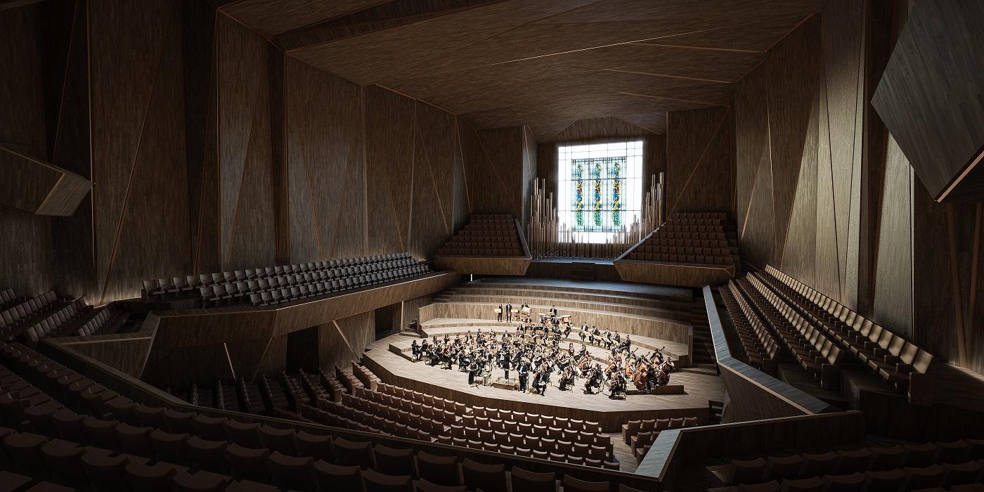 Nacionalinės koncertų salės konkurso I vieta   Vilniaus miesto savivaldybės nuotr.