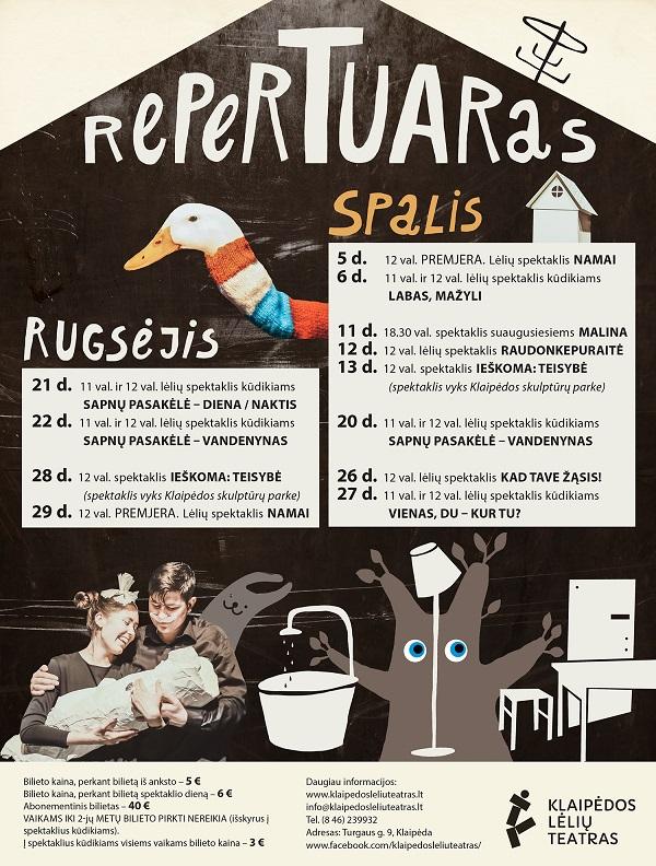 Klaipėdos lėlių teatras Repertuaras internetu | Klaipėdos lėlių teatro nuotr.