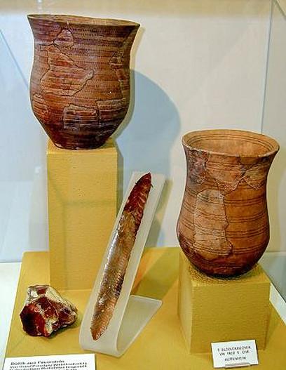 Piltuvėlinės taurės Bruchzalio valstybiniame muziejuje. | Wikimedia nuotr.