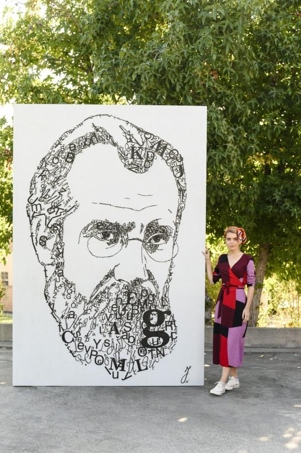 Los Andžele atidengtas signataro Mykolo Biržiškos portretas | urm.lt nuotr.