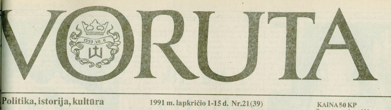 """Išskirtinė """"Vorutos"""" antraštė su Lietuvos valdovo Mindaugo simbolika   Voruta.lt nuotr."""