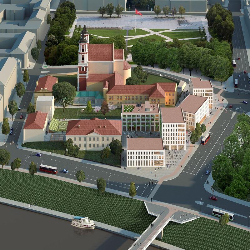 Šv. Jokūbo ligoninės architektūros konkurso nugalėtojas 2vieta | rengėjų nuotr.