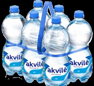 """Mineralinio vandens """"akvilė"""" pakuotė   įmonės nuotr."""