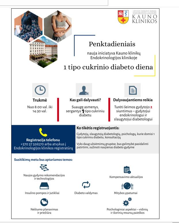 Kauno klinikose nauja iniciatyva sergantiems 1-ojo tipo cukriniu diabetu   Kauno klinikų nuotr.