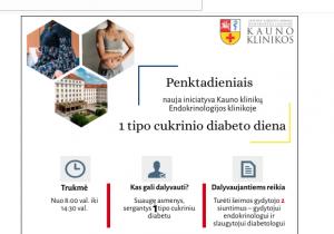 Kauno klinikose nauja iniciatyva sergantiems 1-ojo tipo cukriniu diabetu | Kauno klinikų nuotr.