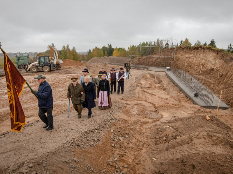 Kryžkalnio memorialo statybos pradžios iškilmės | Lietuvos Respublikos Vyriausybės nuotr.