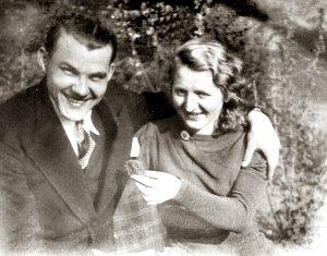 Partizanas Alfonsas Vabalas-Gediminas su žmona | genocid.lt nuotr.