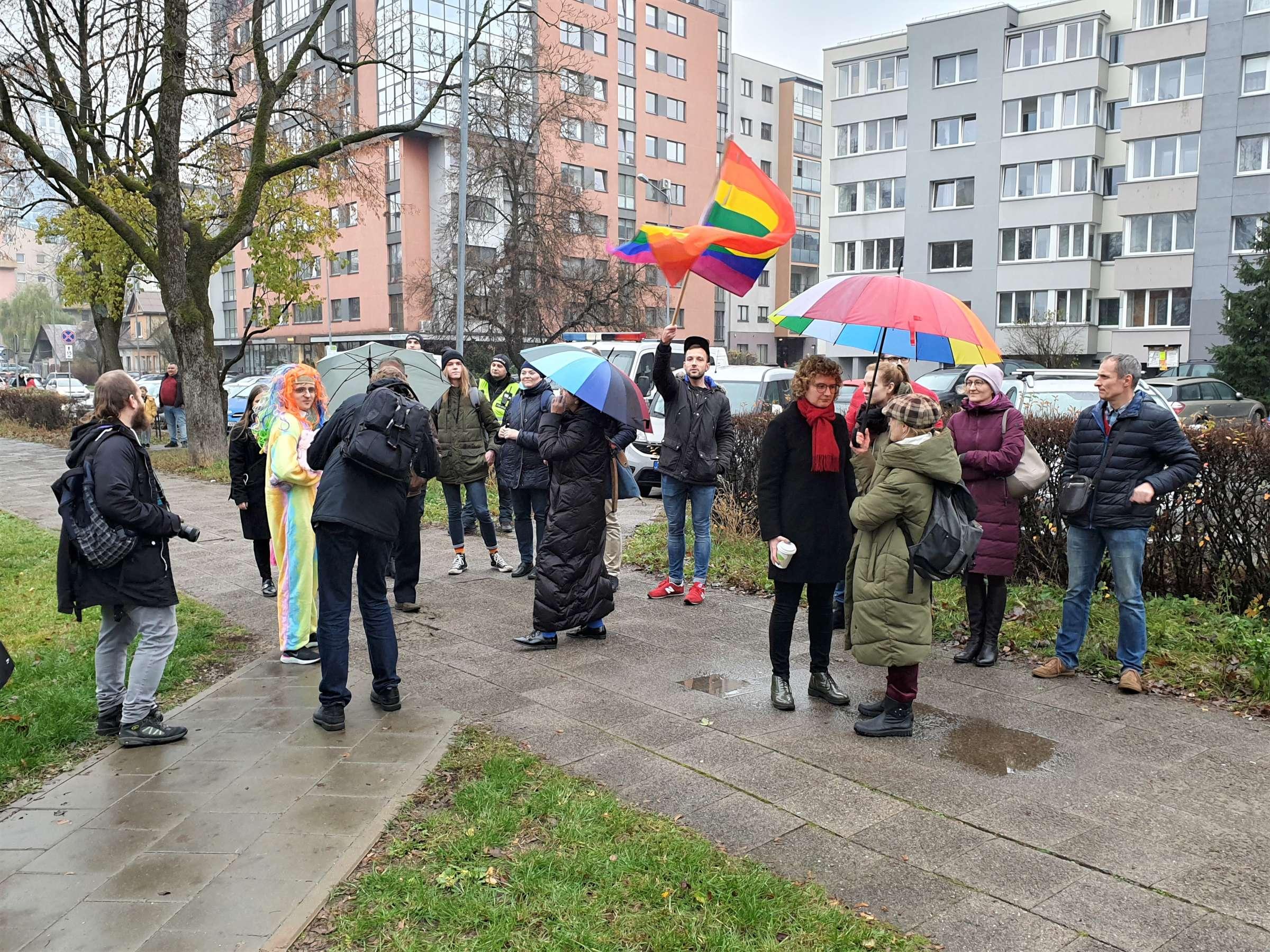 Homoseksualizmo šalininkų piketas | K. Tamašausko nuotr.