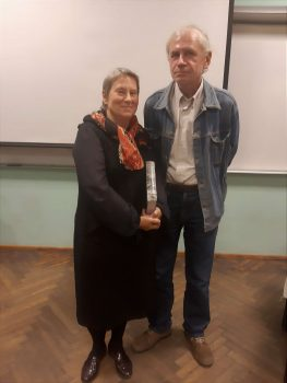 Autorė su dr. Dainiumi Razausku   V. Jocio nuotr.