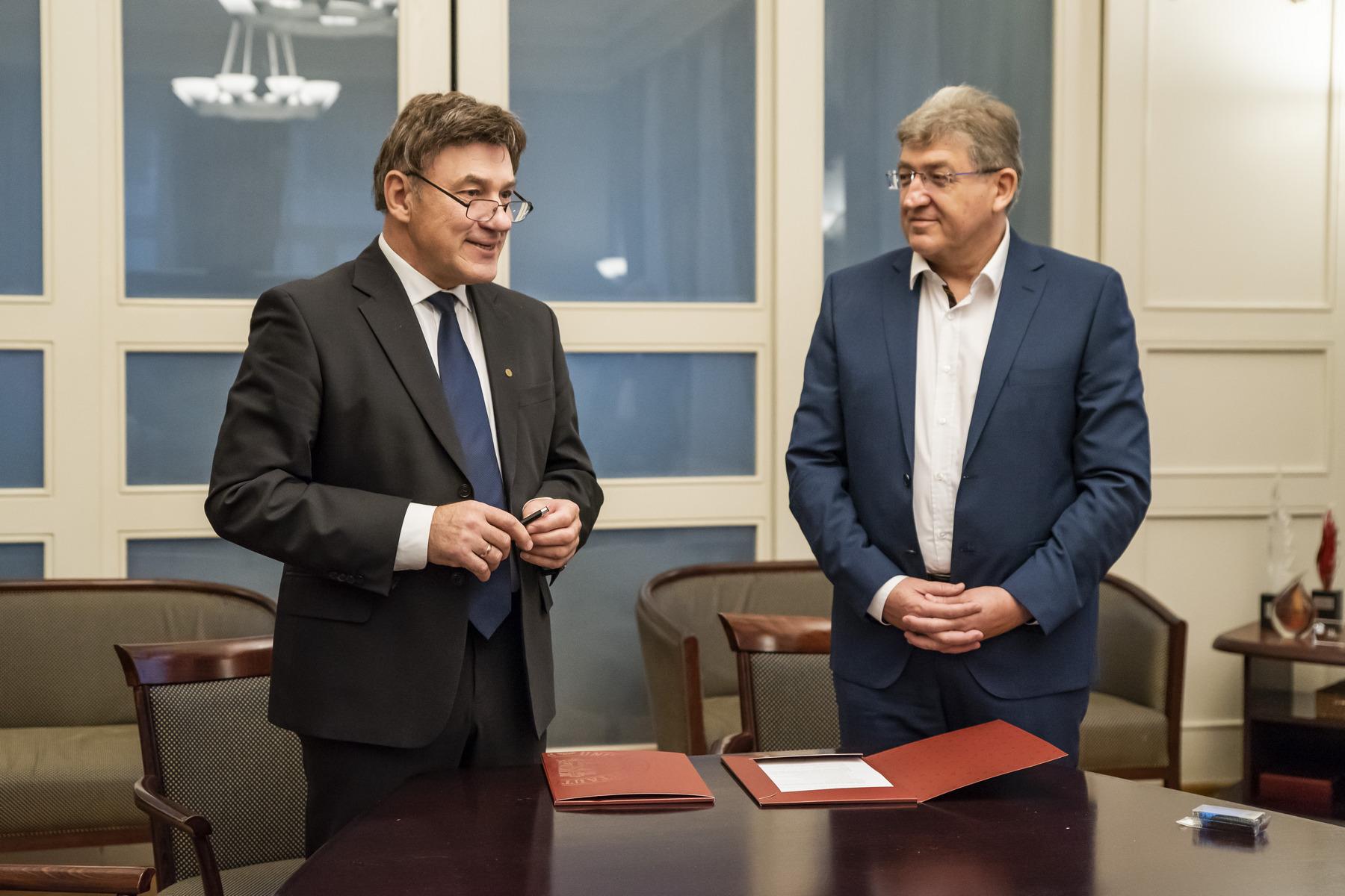 Juozas Augutis ir Elis Fuksas (Eli Fux) | VDU nuotr.