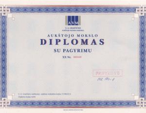 Diplomas | smm.lt nuotr.