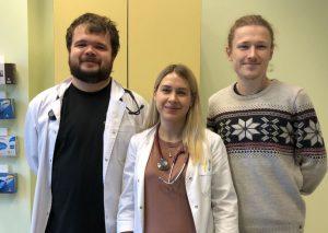 Gydytojai: Povilas Grėbliūnas, Jurgita Zubavičiūtė-Liškauskienė ir Darius Baliūnas Seinų ligoninėje | punskas.pl nuotr.