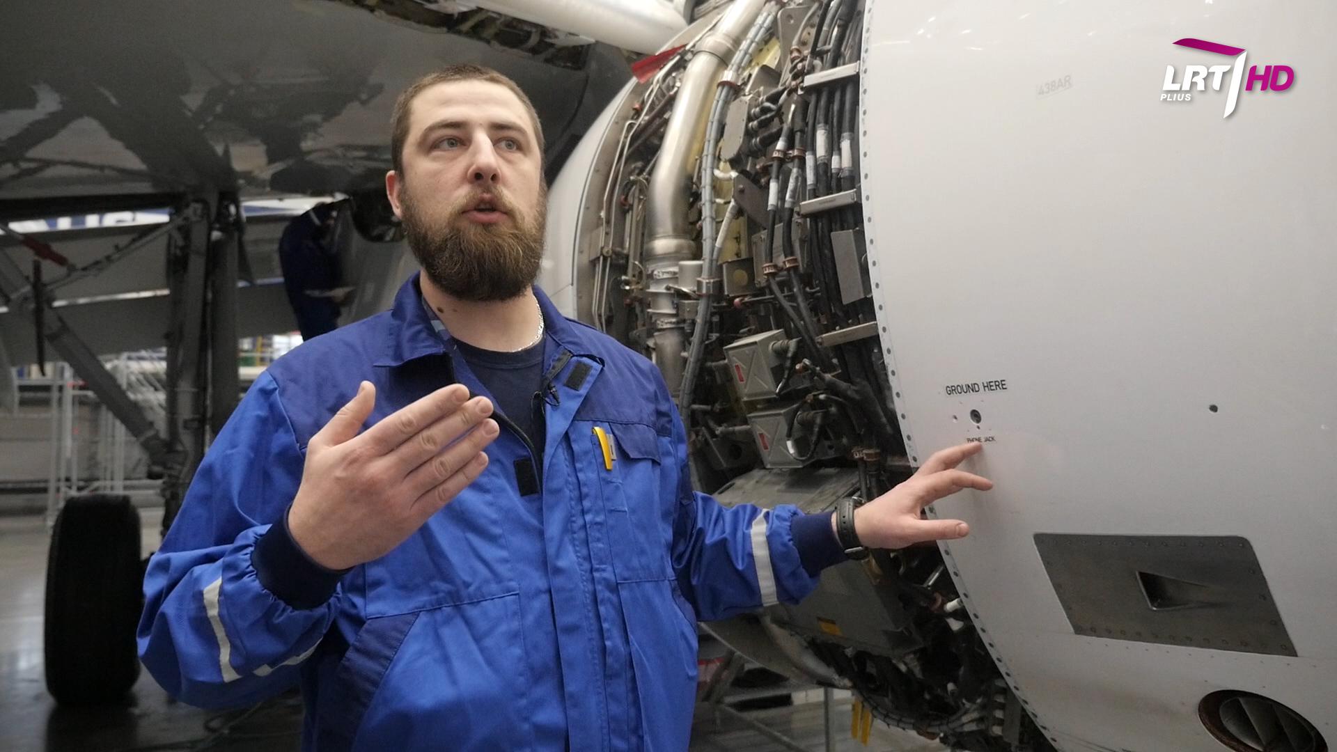 """""""Mokslo sriuba"""": kaip veikia lėktuvų varikliai?   LRT nuotr."""