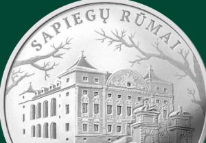 "Moneta ""Sapiegų rūmai"" | monetos.lb.lt nuotr."