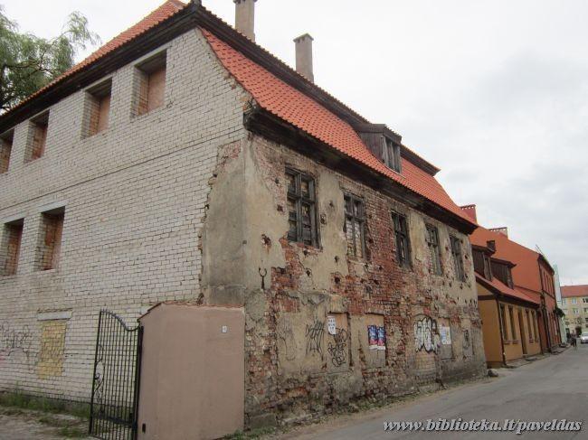 Pastatas Daržų g. 14 Klaipėdoje .Pastatytas 1773 m.   biblioteka.lt nuotr.