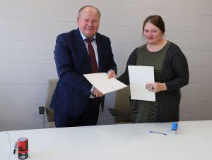 Valerijus Makūnas ir Jolanta Lipkevičienė | Kauno rajono savivaldybės nuotr.
