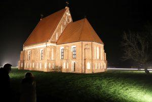 Zapyškio bažnyčia naktį | Kauno rajono savivaldybės nuotr.