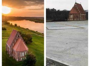 Zapyškio bažnyčia apipilama betonu | virsvisko.lt nuotr.