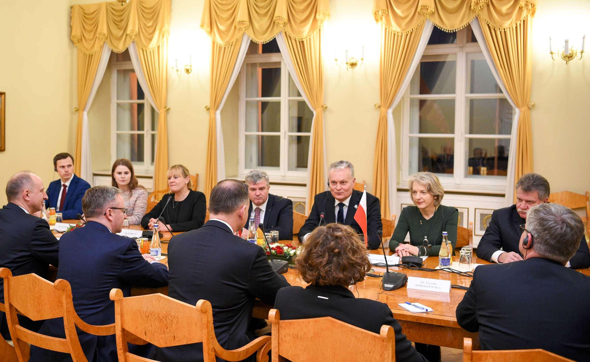 Susitiko Lietuvos ir Lenkijos prezidentai | lrp.lt, R. Dačkaus nuotr.