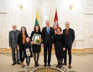 Prezidentas įteikė padėkas geriausių disertacijų autoriams | lrp.lt, R. Dačkaus nuotr.