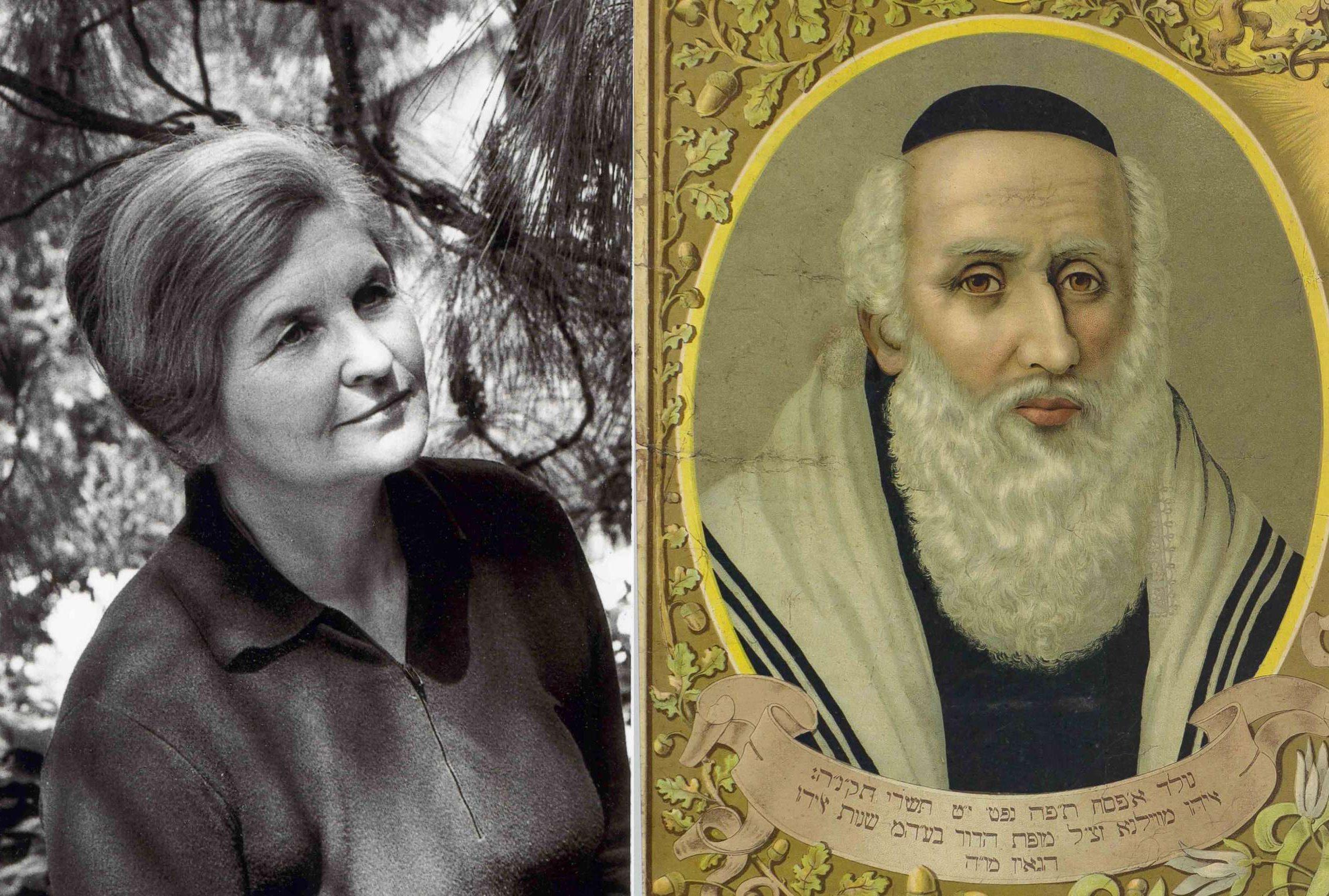 Marija Alseikaitė-Gimbutienė ir Vilniaus Gaonas   Rengėjų nuotr.