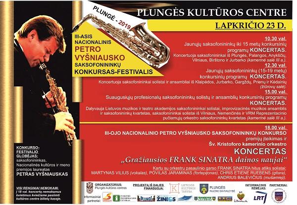 Plungėje trečią kartą bus įteiktos nacionalinio Petro Vyšniausko saksofonininkų varžytuvių premijos | Rengėjų nuotr.