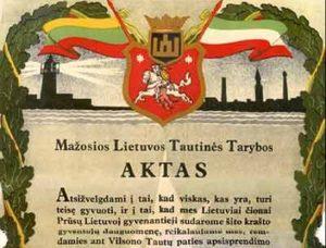 Tilžės Aktas | wikipedia.org nuotr.
