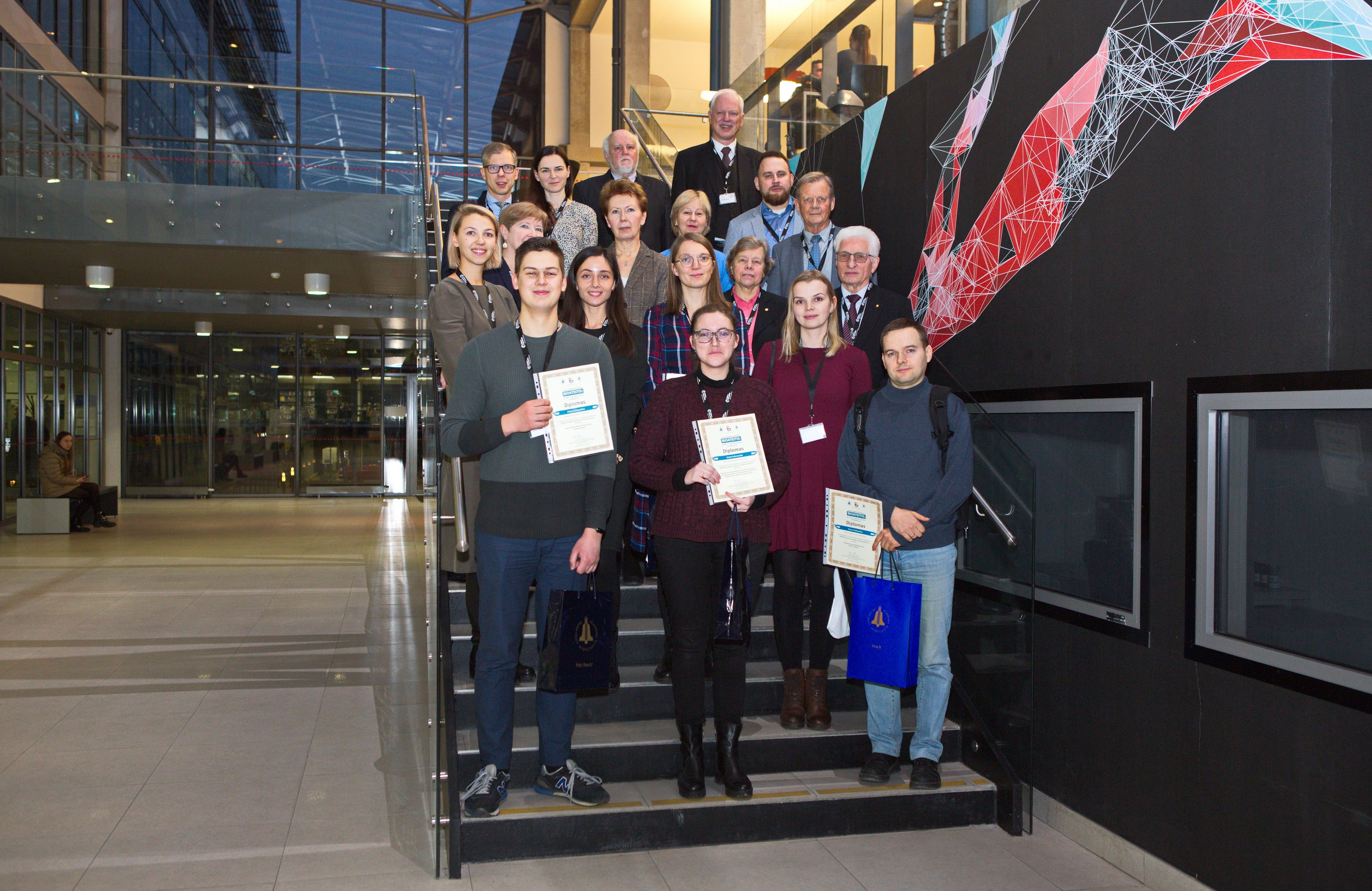 Apdovanoti devyni jaunieji mokslininkai | K. Šimatonio nuotr.